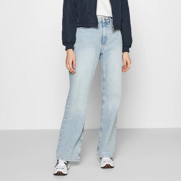 Bilde av NA-KD - Relaxed Full length Jeans Mid Blå
