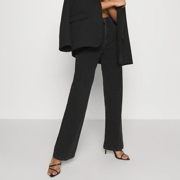 Bilde av NA-KD - Relaxed Full length Jeans Black