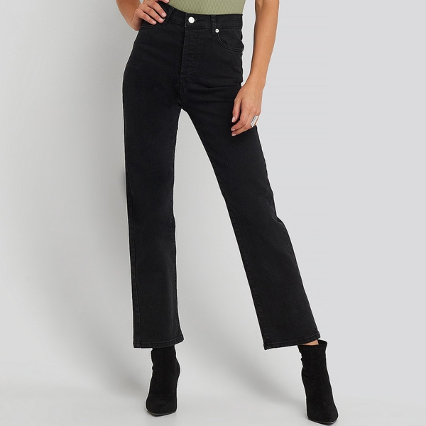 Bilde av NA-KD - Organic High Straight Jeans Black