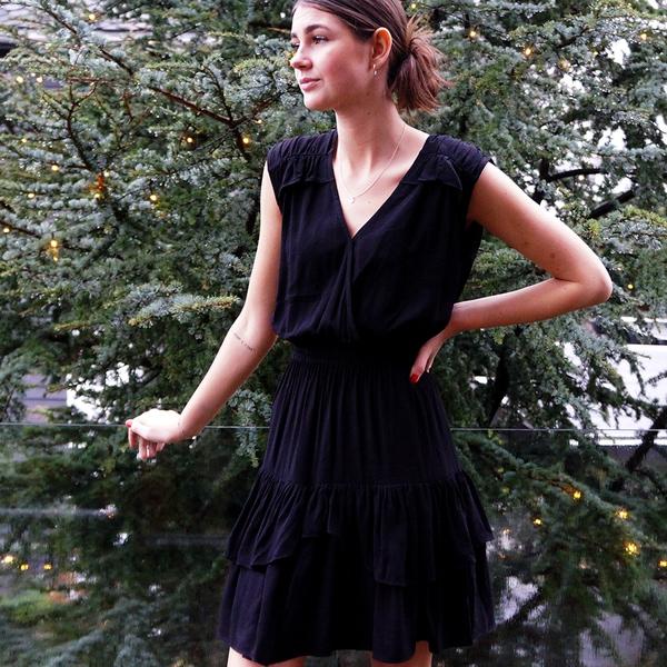 Bilde av Designers Remix Girls - Eliza Ruffle Dress Svart
