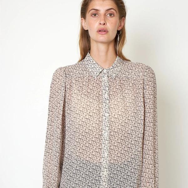 Bilde av Second Female - Lacing Shirt Bluse Cement