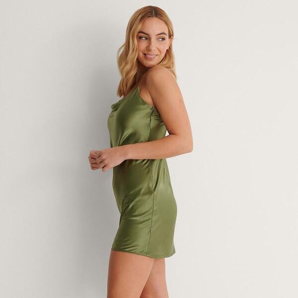 Bilde av NA-KD - Thin Strap Mini Dress Olive