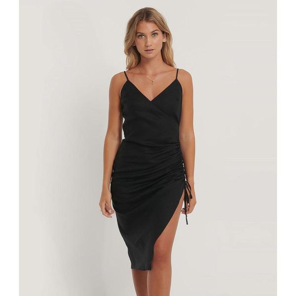 Bilde av NA-KD - Kjole Drawstring Midi Dress Black