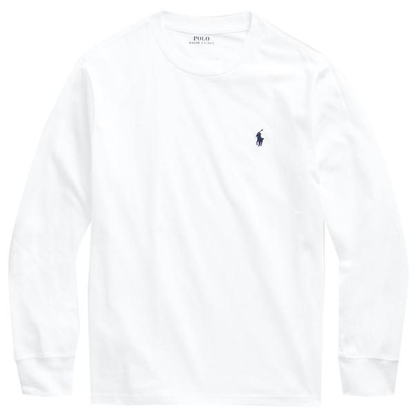 Bilde av Polo Ralph Lauren Teens - LS T-skjorte Hvit