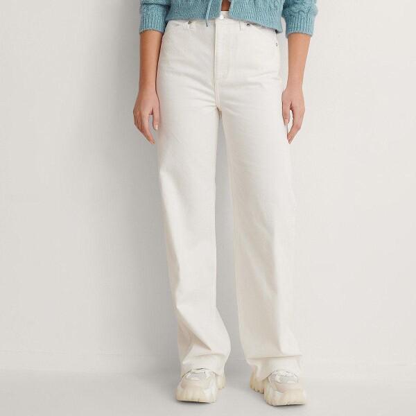 Bilde av NA - KD - Wide Leg Jeans Hvit