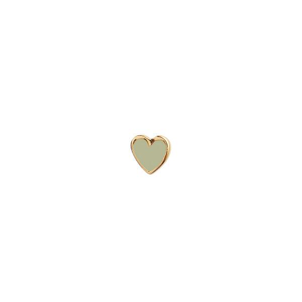 Bilde av Stine A - Øredobb Petit Love Heart Olive Green