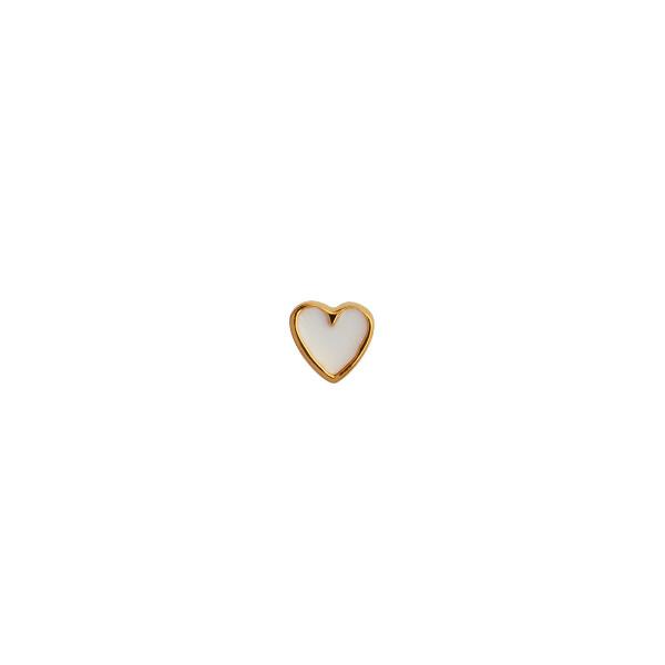 Bilde av Stine A - Øredobb Petit Love Heart White Enamel