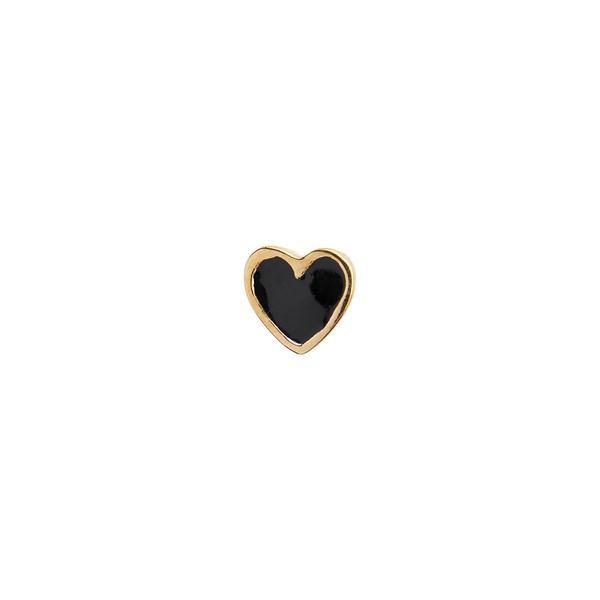 Bilde av Stine A - Øredobb Petit Love Heart Black Enamel