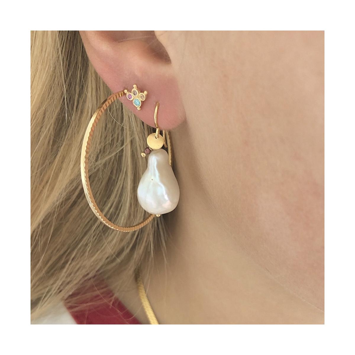 Stine A - Øredobb Petit Candy Fleur Earring Gold