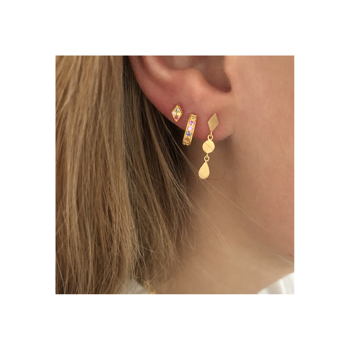 Stine A - Ørering Petit Candy Creol Earring Gold