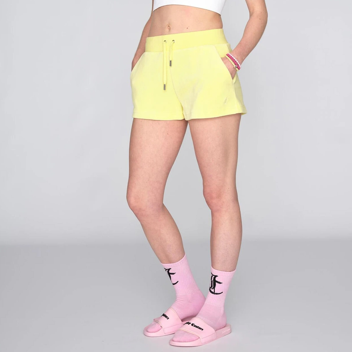 Juicy Couture - Shorts Eve Cotton Rich Lemon Drop