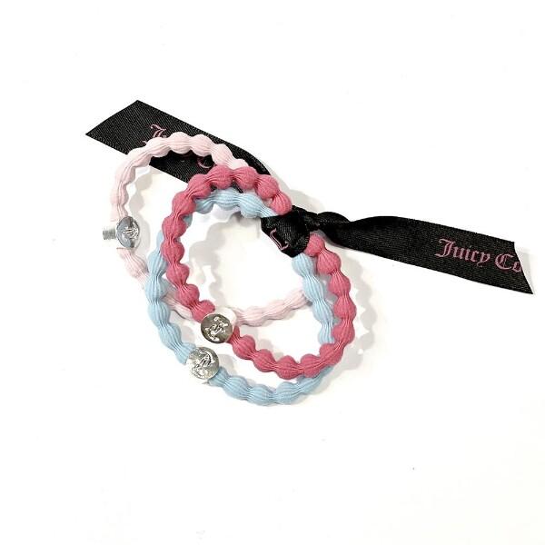 Bilde av Juicy Couture - Hårstrikk 3 stk rosa, blå, fuxia