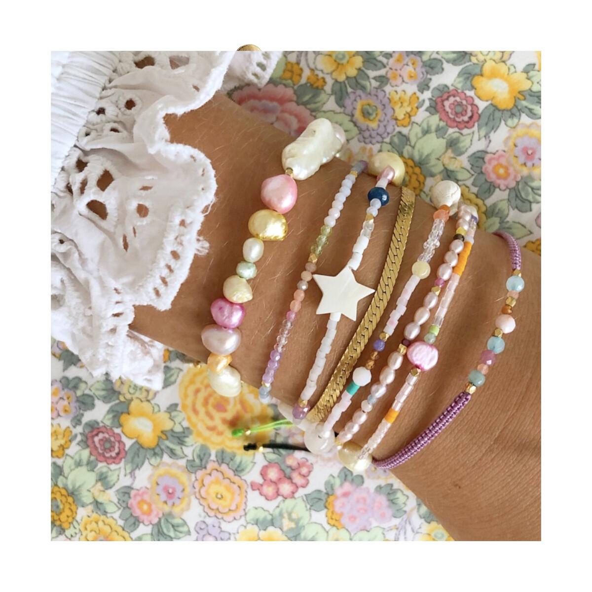 Stine A - Armbånd Pink Beach Bracelet