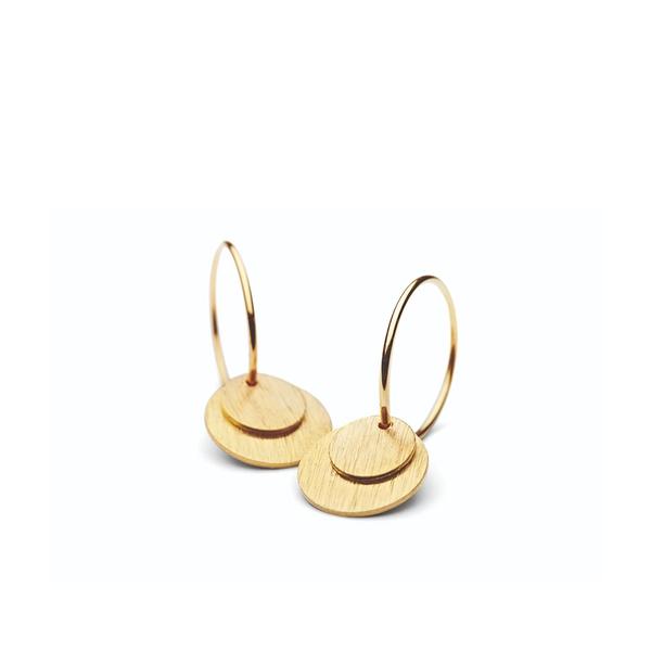 Bilde av Pernille Corydon - Ø  Small Coin Earrings Gull