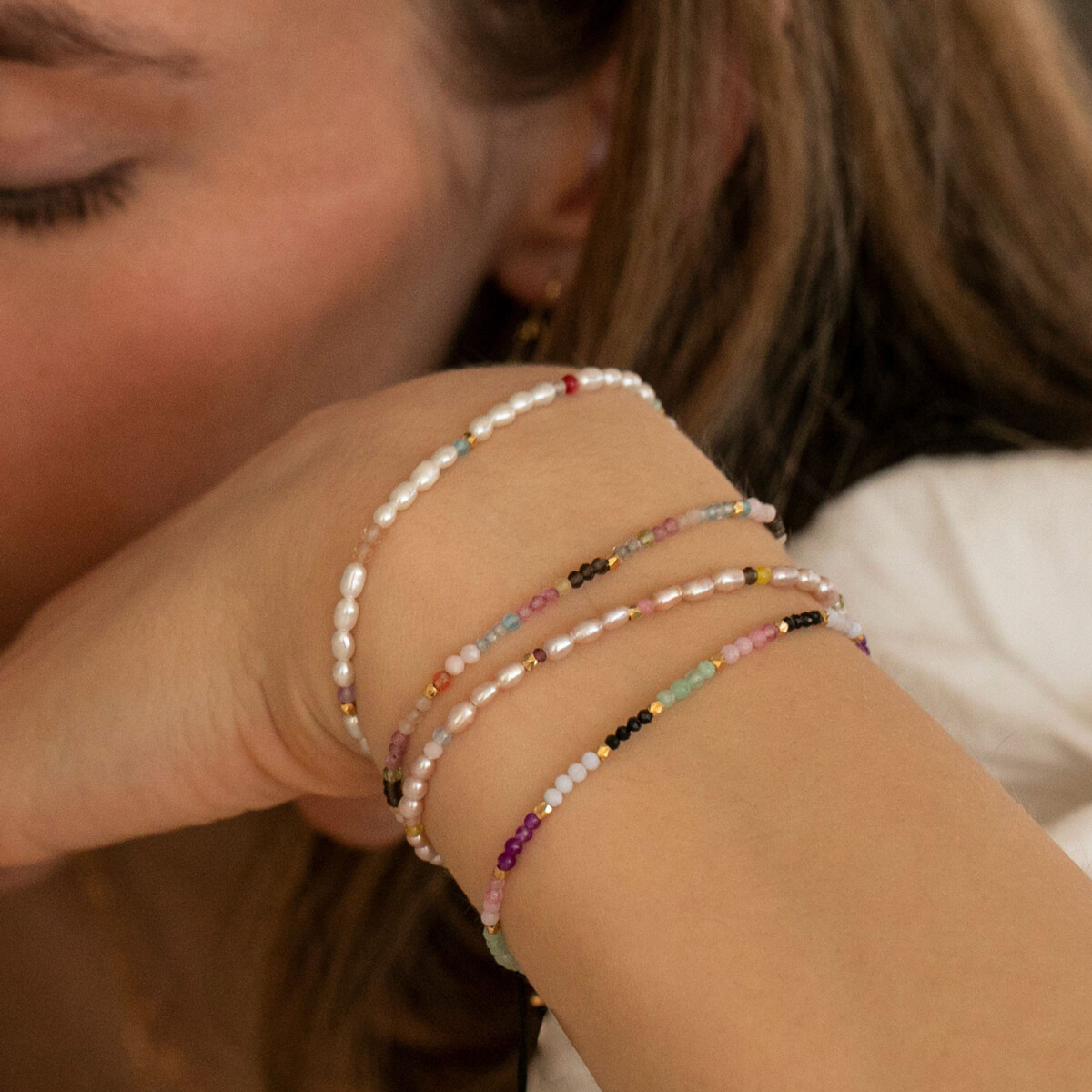 Stine A - Armbånd Confetti Pearl Bracelet
