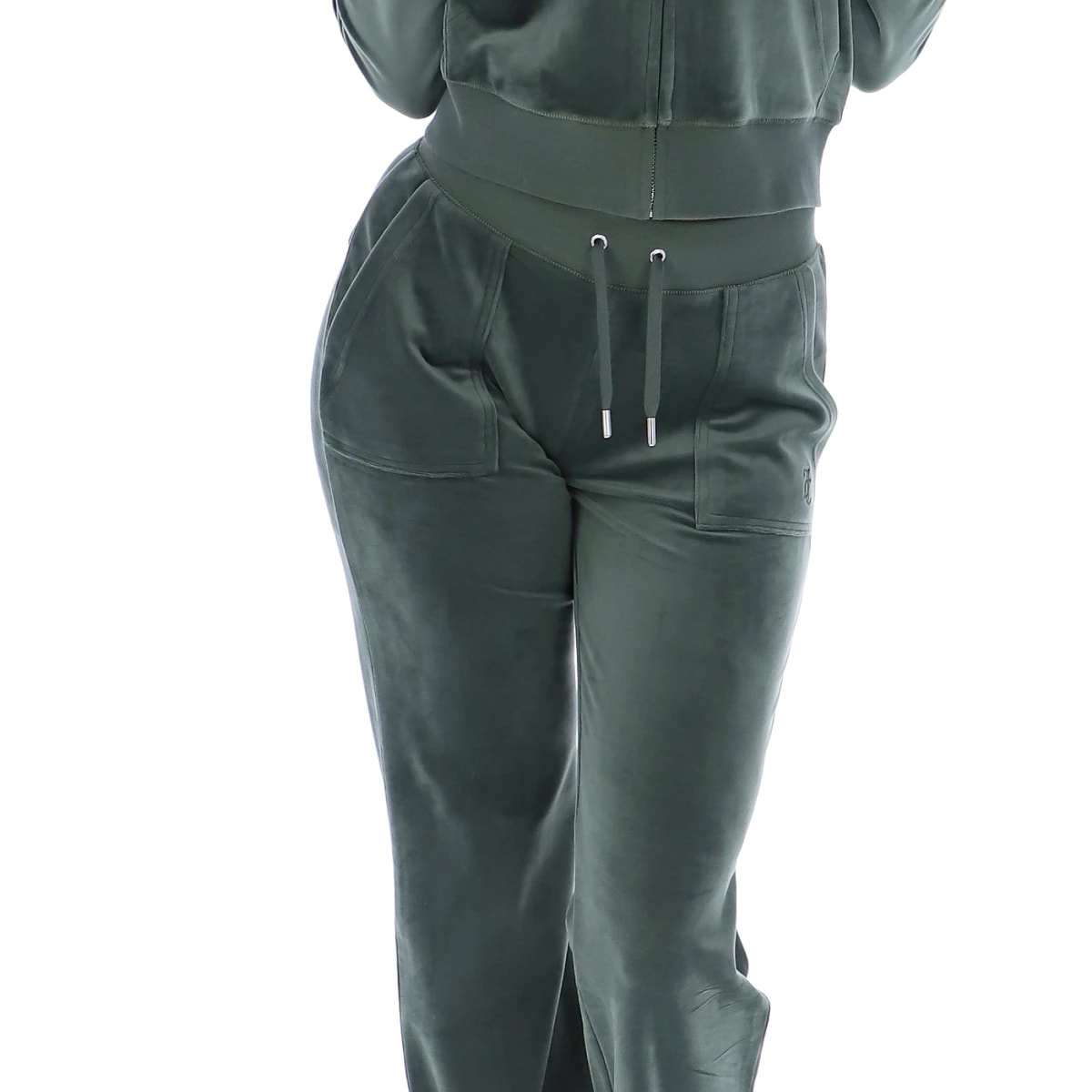 Juicy Couture - Bukse Del Ray Velour Dark Moss