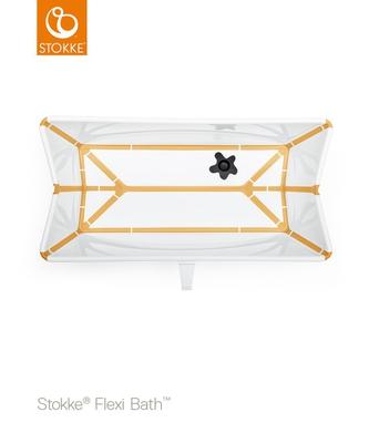 Bilde av Stokke Flexi Bath, White/Yellow