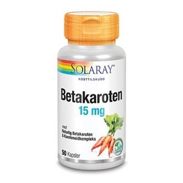 Bilde av Solaray betakaroten 15 mg 50 kap