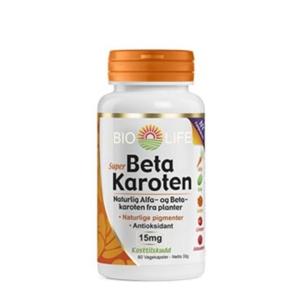 Bilde av Bio life super betakaroten 15 mg 60 kap