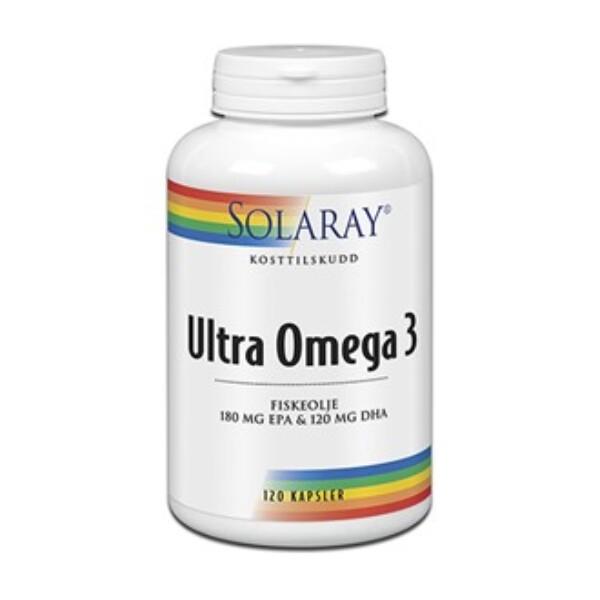 Bilde av Solaray ultra omega 3 fiskeolje 120 kap