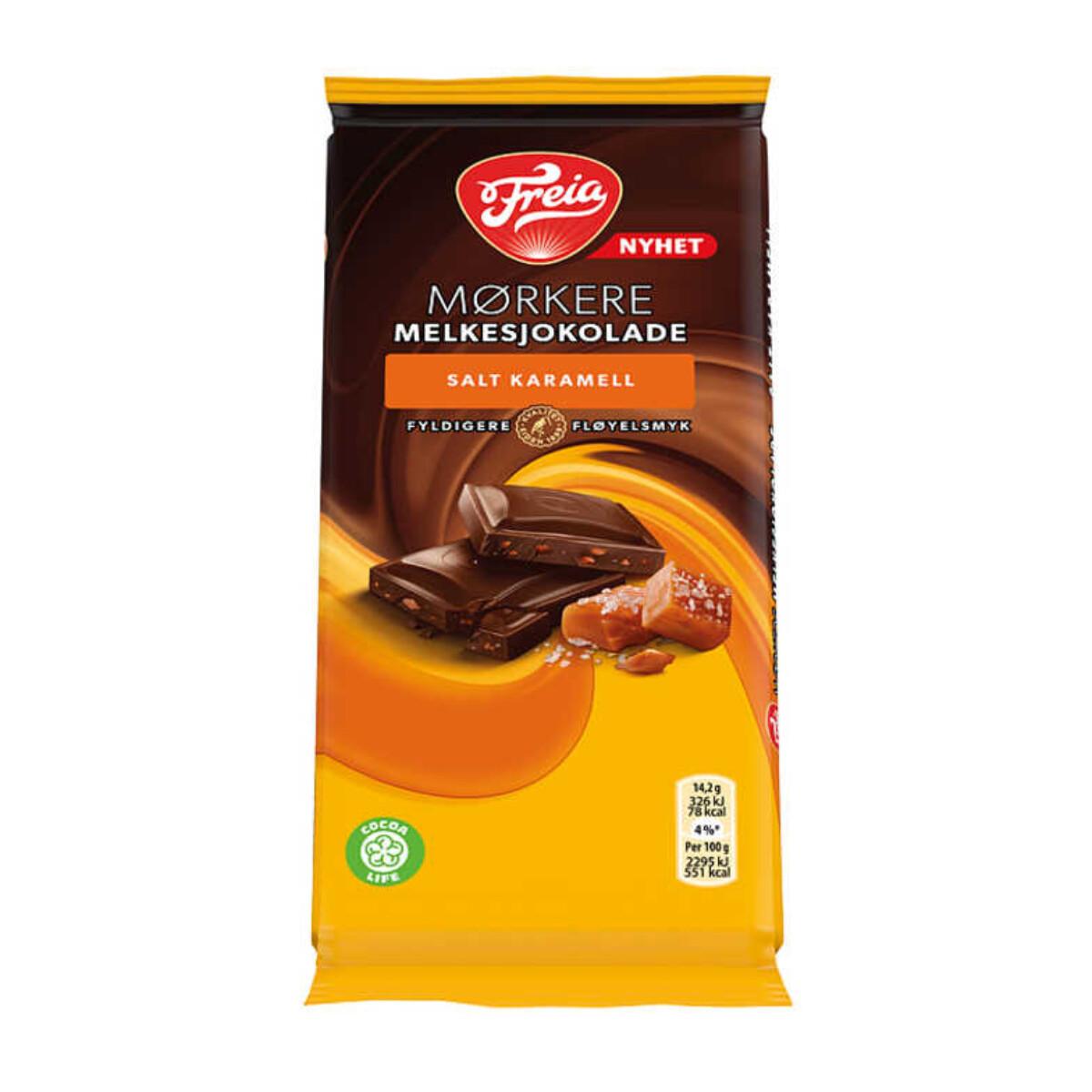 Freia Mørkere Melkesjokolade 3 Ulike Smaker