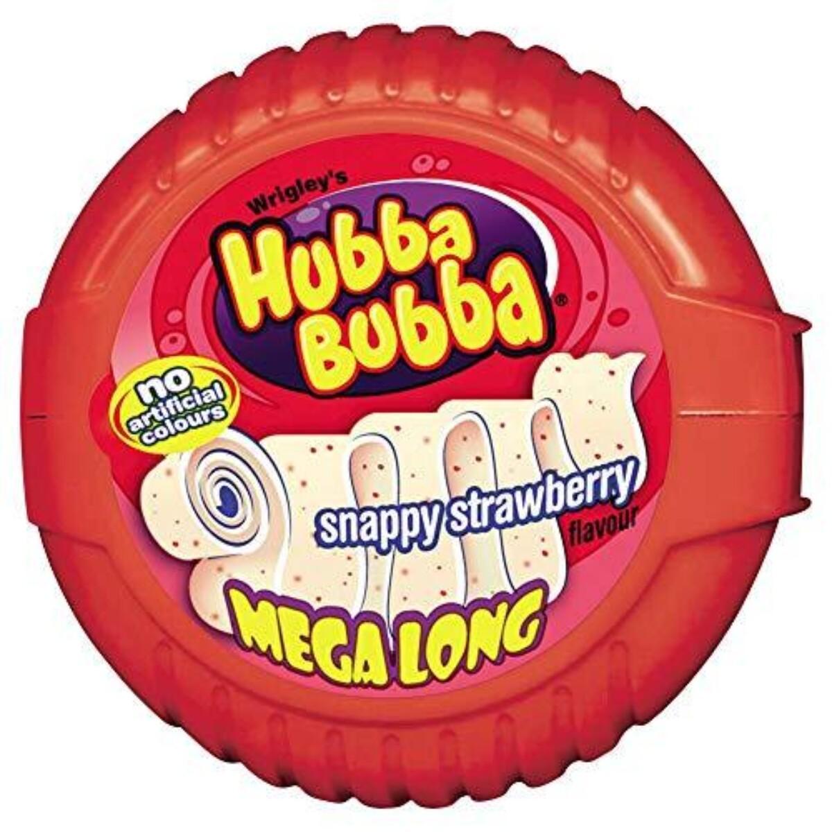 Hubba Bubba Mega long - Jordbær