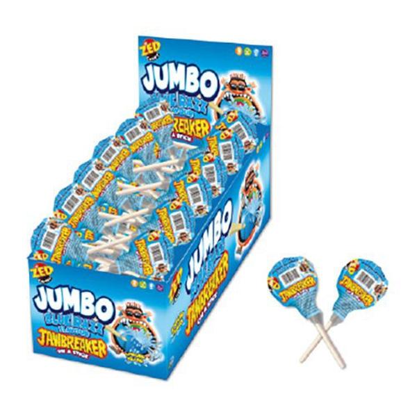 Bilde av Jumbo Jawbreaker Lollipop - Blue Rasberry