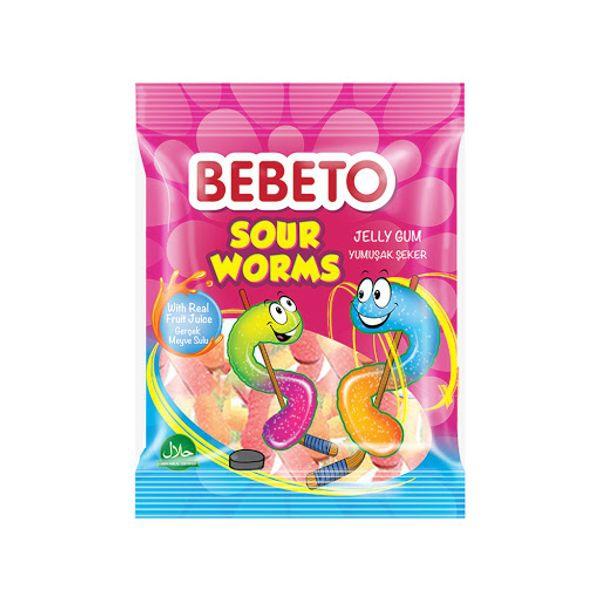 Bilde av Bebeto Sour Worms 80g