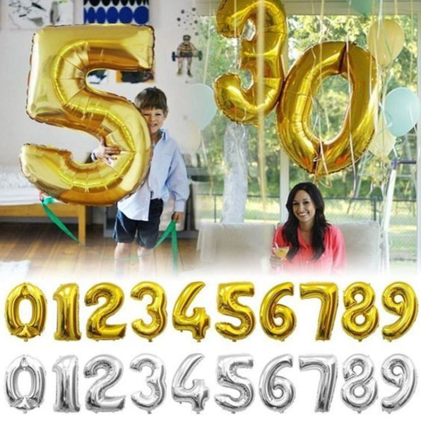 Bilde av Store Tallballonger 80cm