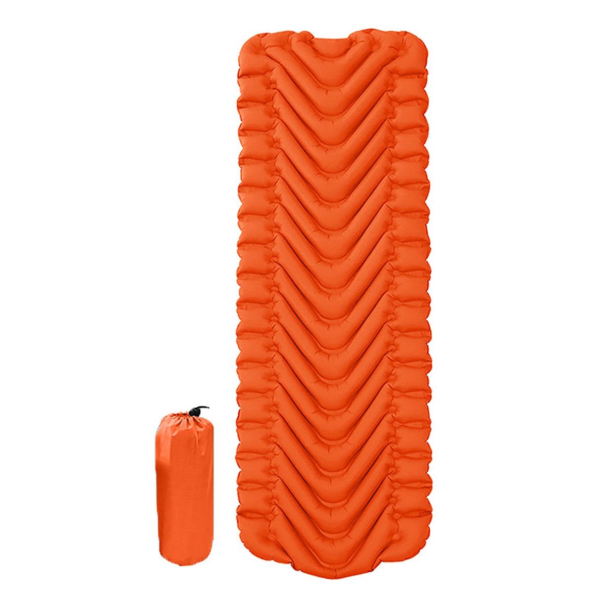 Superlett Oppblåsbart Liggeunderlag Oransje/Grønn
