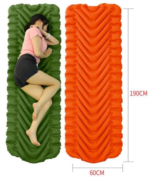 Bilde av Superlett Oppblåsbart Liggeunderlag Oransje/Grønn