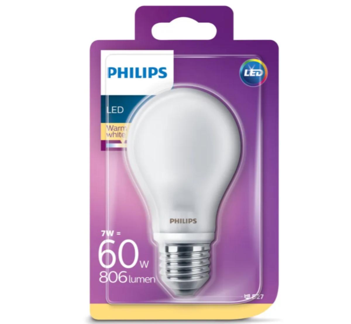Philips LED-globepære E27 806 lm