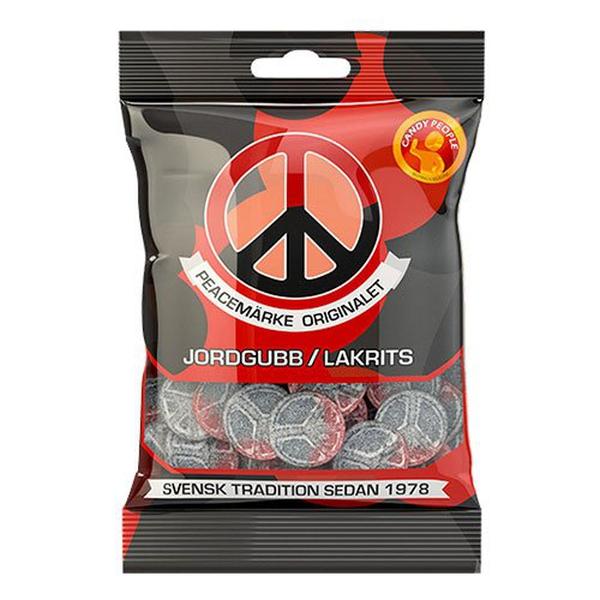 Bilde av Peacemerke Jordbær/lakris 80g