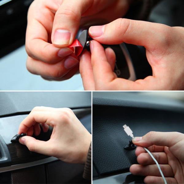 Bilde av 8pk Smarte Kabelklemmer/holder
