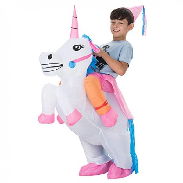 Bilde av Oppblåsbart Enhjørning kostyme Barn