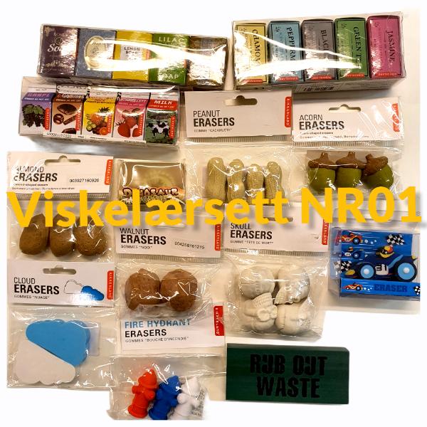 Bilde av Stort Viskelærsett - To Ulike Sett