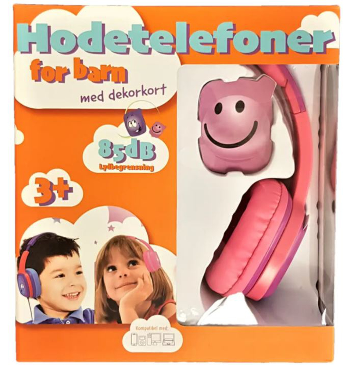 Hodetelefoner For Barn Blå/Rosa