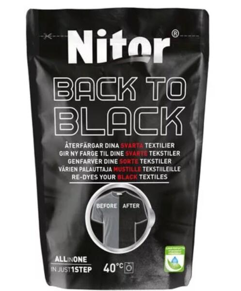 Bilde av Nitor Tekstilfarge Back to black 400g