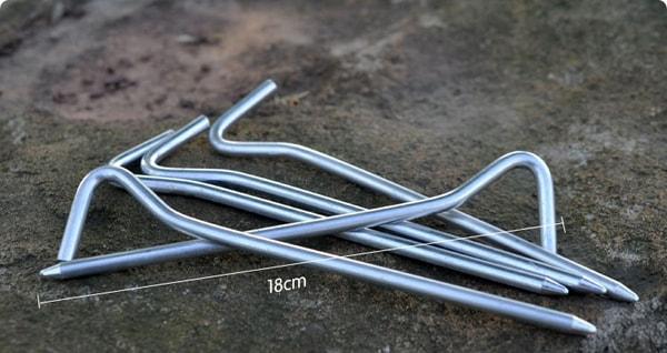 Bilde av 10pk Solide Teltplugger Med Oppbevaringsbag
