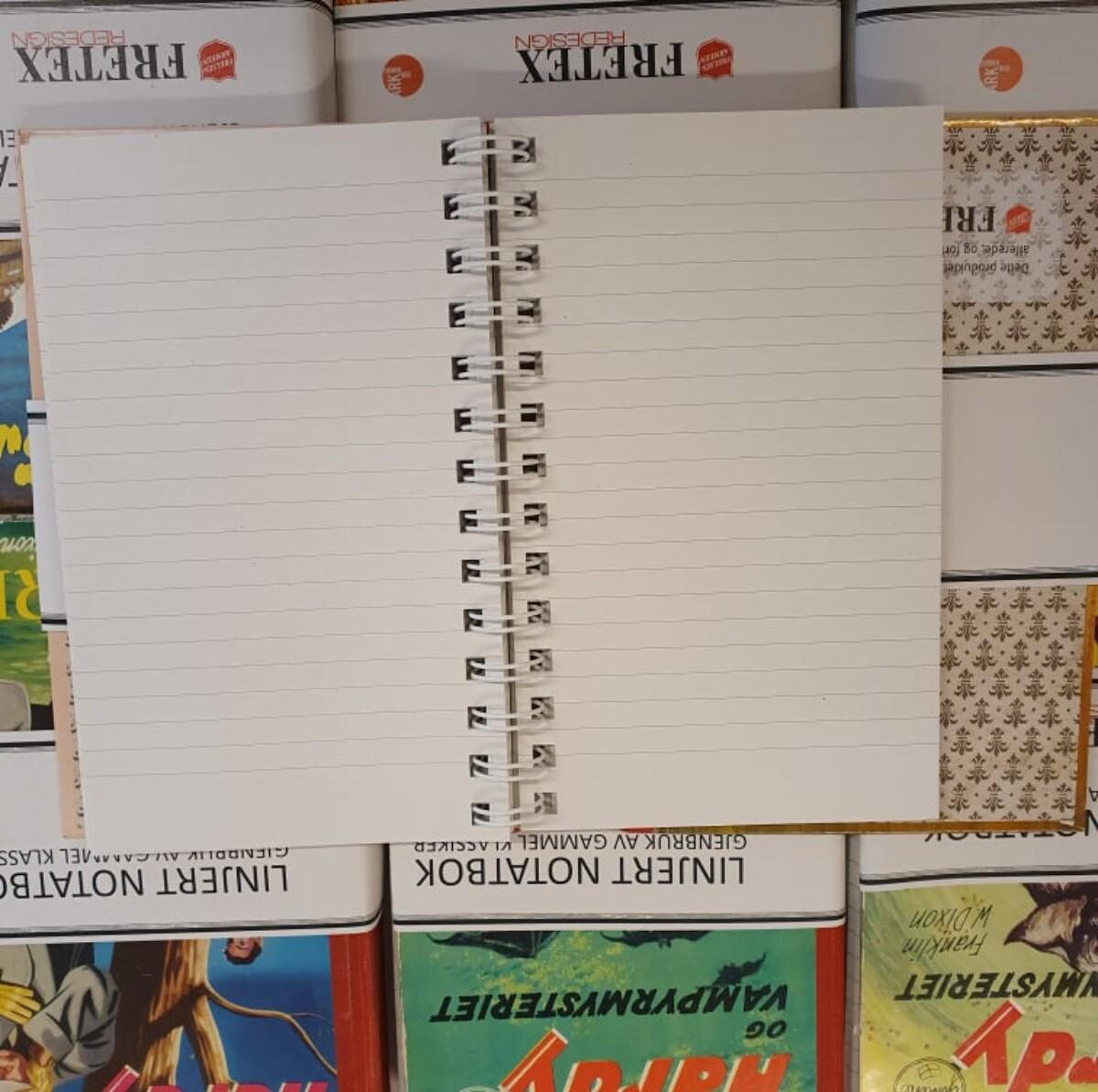 Retro Notatbok- Gjenbruk av gamle bøker'