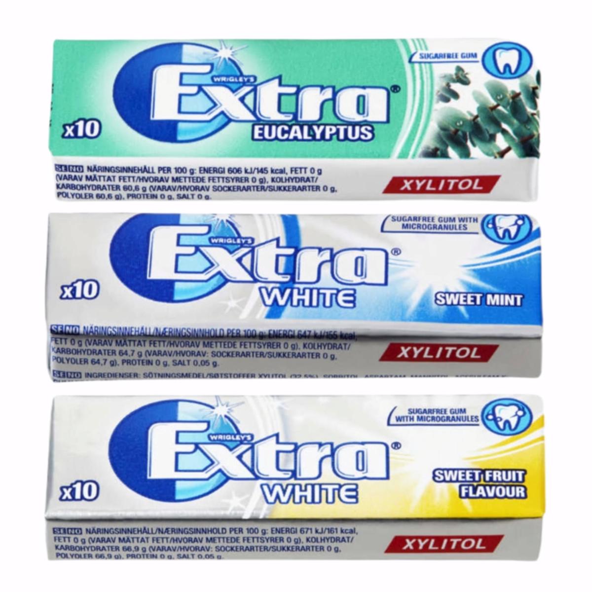 Extra Tyggegummi 14g- Ulike Smaker