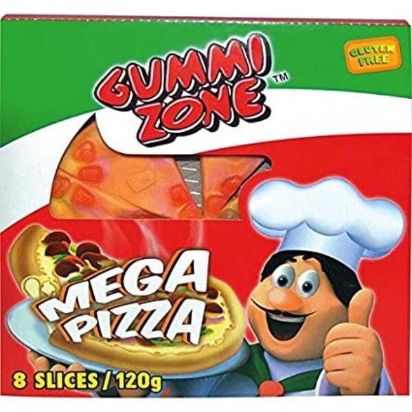 Bilde av Gummi Zone Mega Pizza 120g