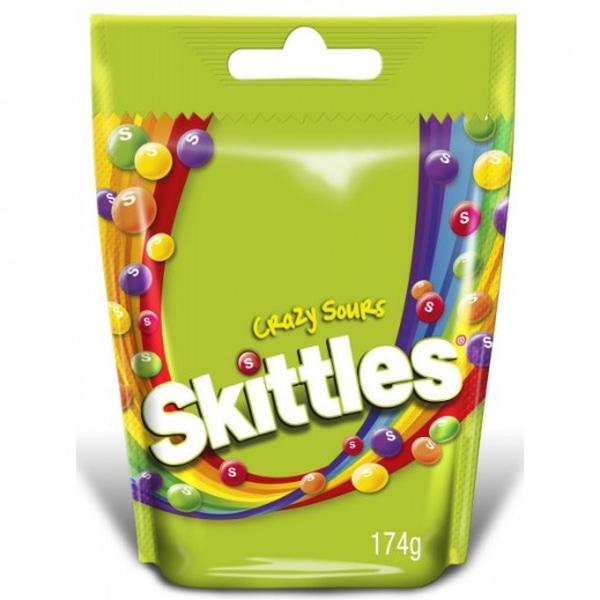 Bilde av Skittles Crazy Sours 160g