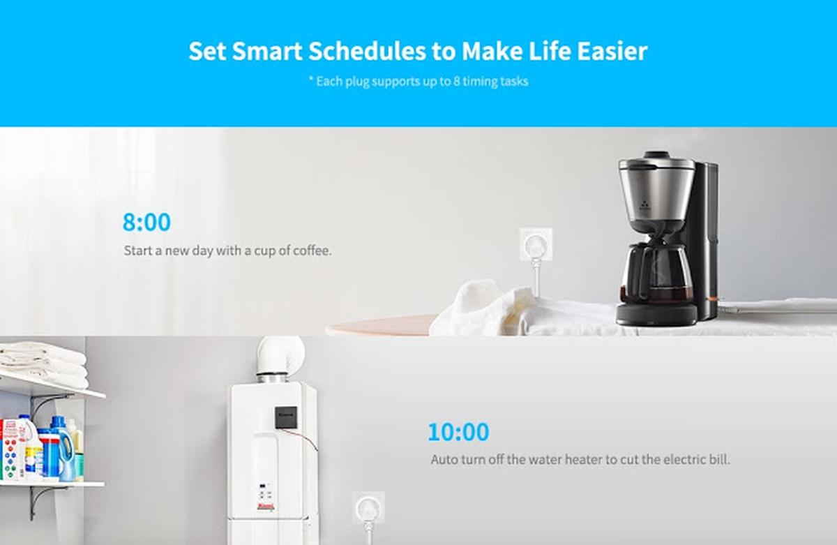 Wifi Smart Stikkontakt Støtter Google Home