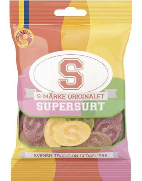Bilde av S-merke Supersurt Orginal 80g