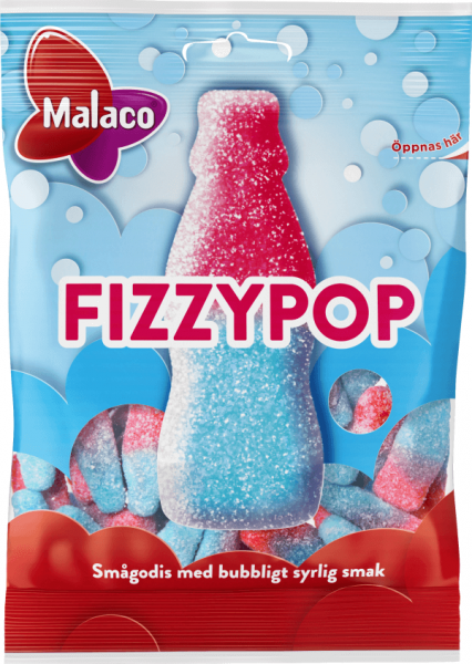 Bilde av Malaco Fizzypop 80g