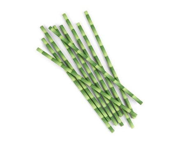 Bilde av Bambus Papirsugerør 144pk'