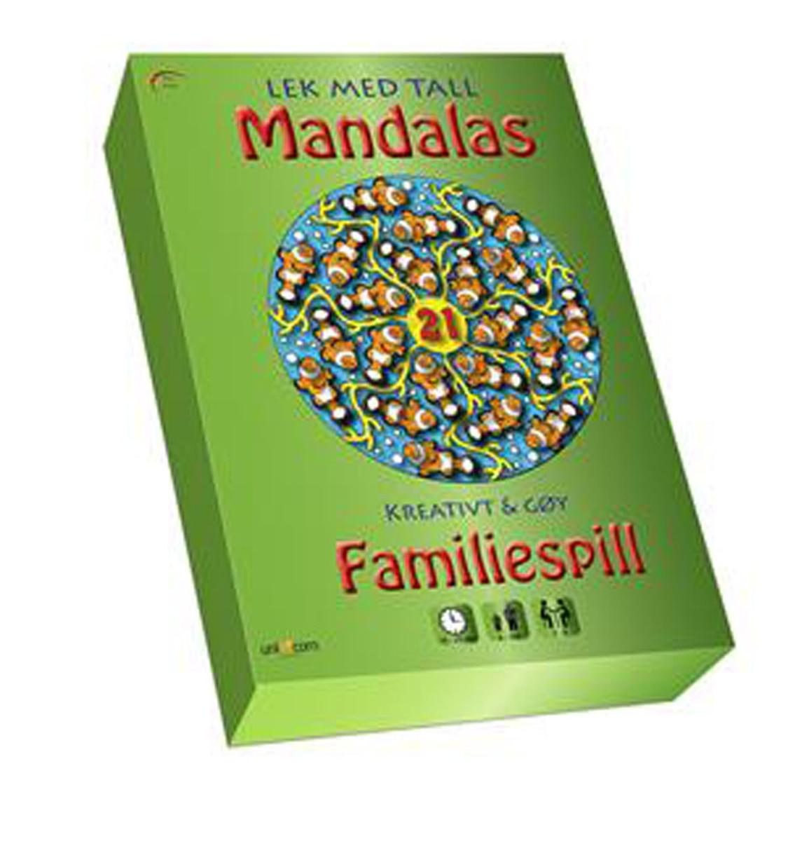 Mandalas familiespill - Lek med tall/bokstaver'