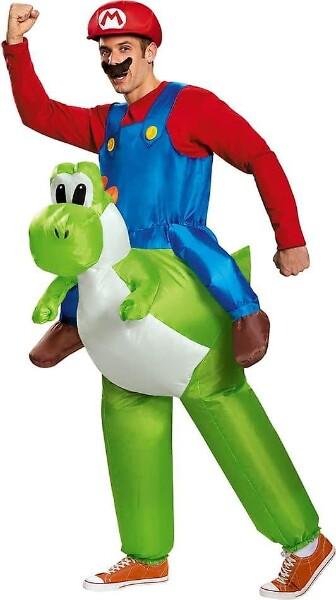 Bilde av Oppblåsbart Ridende Mario Kostyme