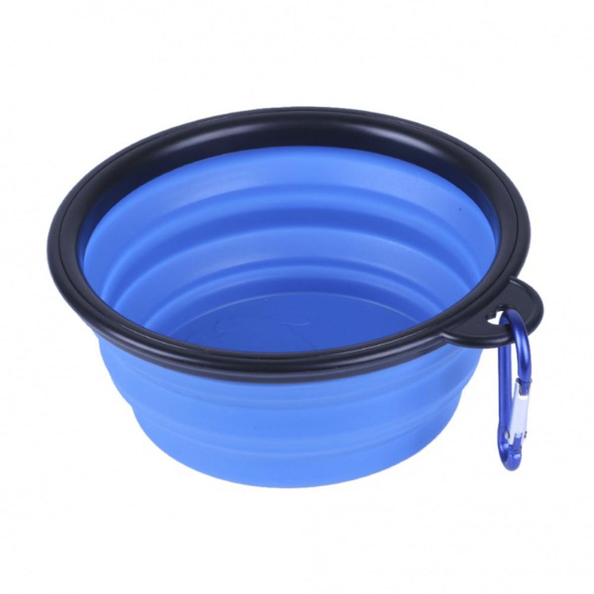 Foldbar mat/drikkeskål i silikon